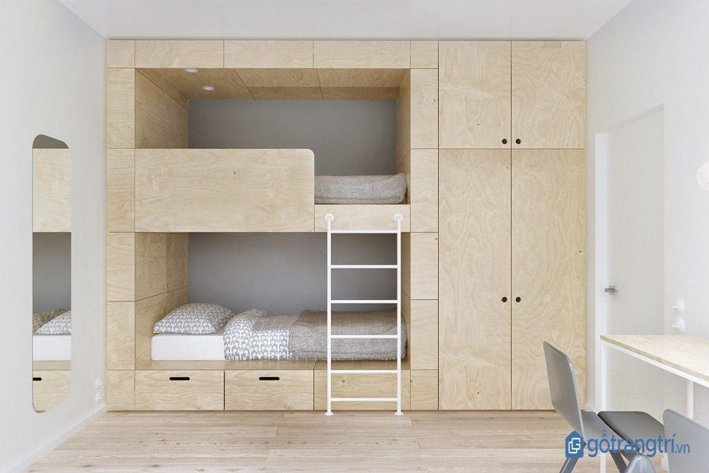 Thiết kế phòng ngủ đa năng phong cách nội thất tối giản. (ảnh: internet)