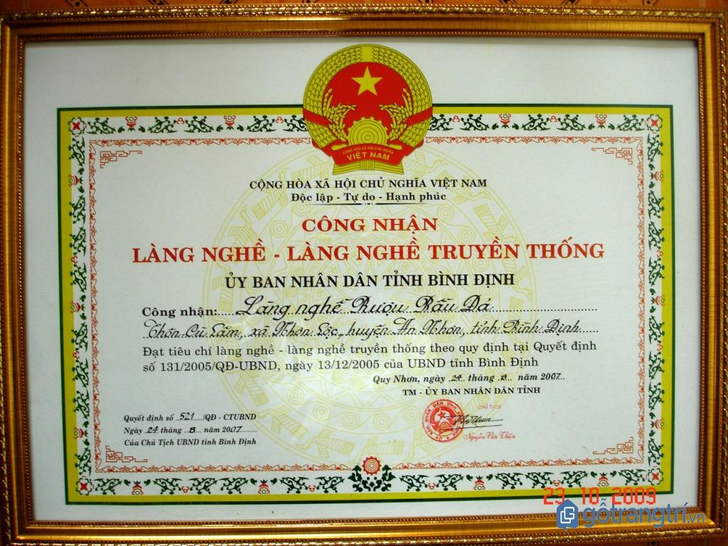 Làng nghề Cù Lâm được công nhận là làng nghề truyền thống tỉnh Bình Định năm 2007. (ảnh: internet)