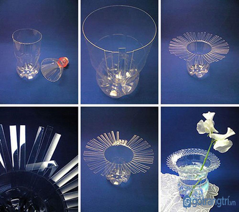 Tái chế chiếc ly cũ thành lọ hoa trang trí độc đáo cũng là cách dọn nhà đón tết hiệu quả (ảnh: internet)