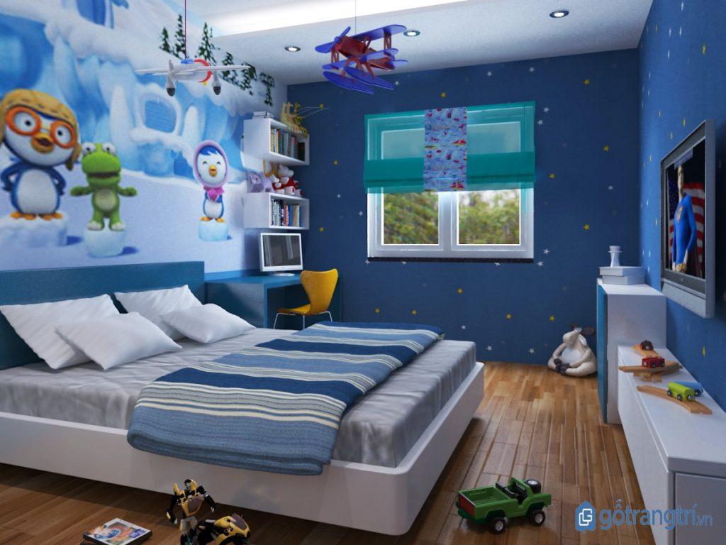 Chọn mẫu giường ngủ có kiểu dáng an toàn và kích thước phù hợp với tốc độ phát triển thể lực của trẻ. (ảnh: internet)
