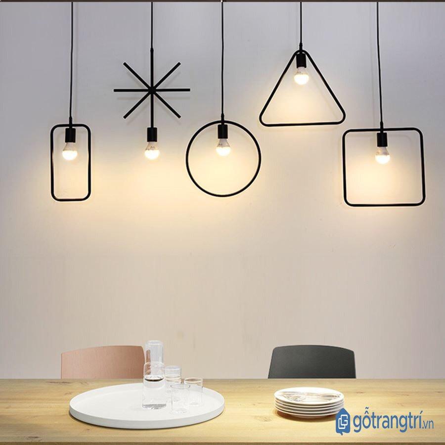 Bộ đèn thả trần nhiều hình dáng. (ảnh: internet