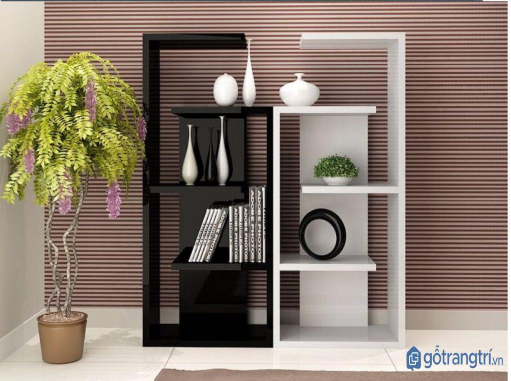 Kệ trang trí đẹp bằng gỗ MDF phù hợp không gian sống hiện đại. (ảnh: internet)