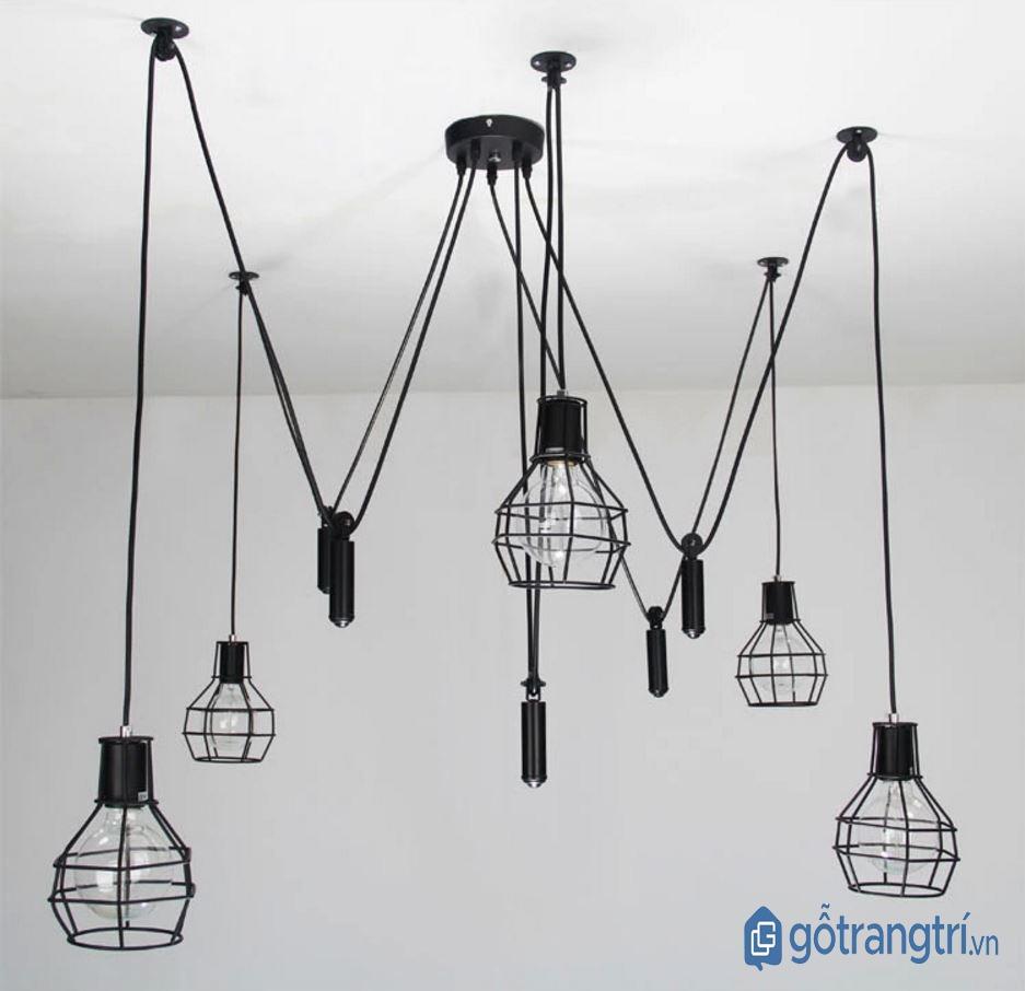 Đèn thả trần trang trí độc đáo phù hợp nhiều không gian. (ảnh: internet)