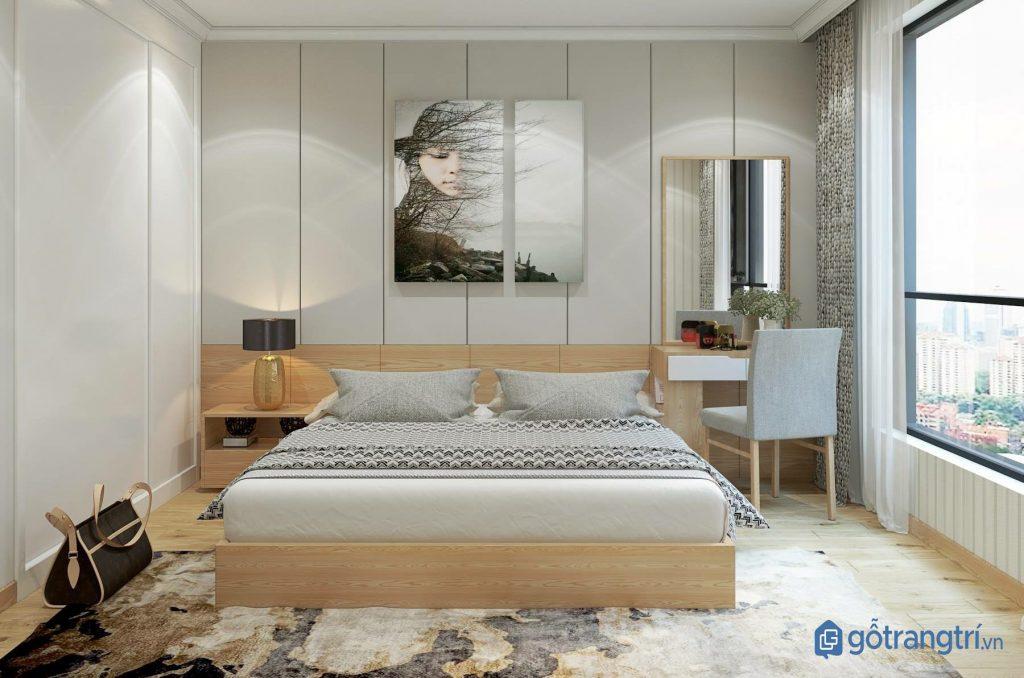Thiết kế phòng ngủ hiện đại bằng nội thất gỗ MDF. (ảnh: internet)