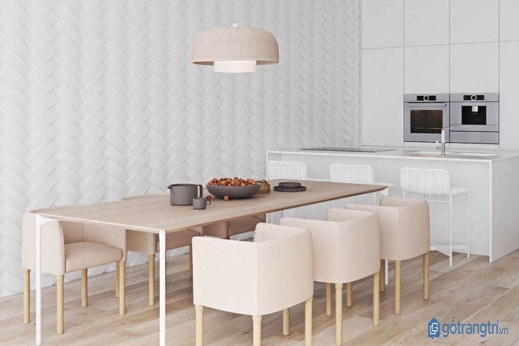 Phòng bếp phong cách nội thất tối giản hiện đại, thoáng mát. (ảnh: internet)