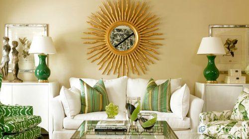 Ý tưởng phối màu xanh đen - vàng đồng trong trang trí nội thất