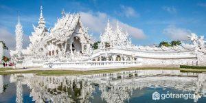 Hình ảnh tuyệt đẹp của chùa trắng Wat Rong Khun - Ảnh internet