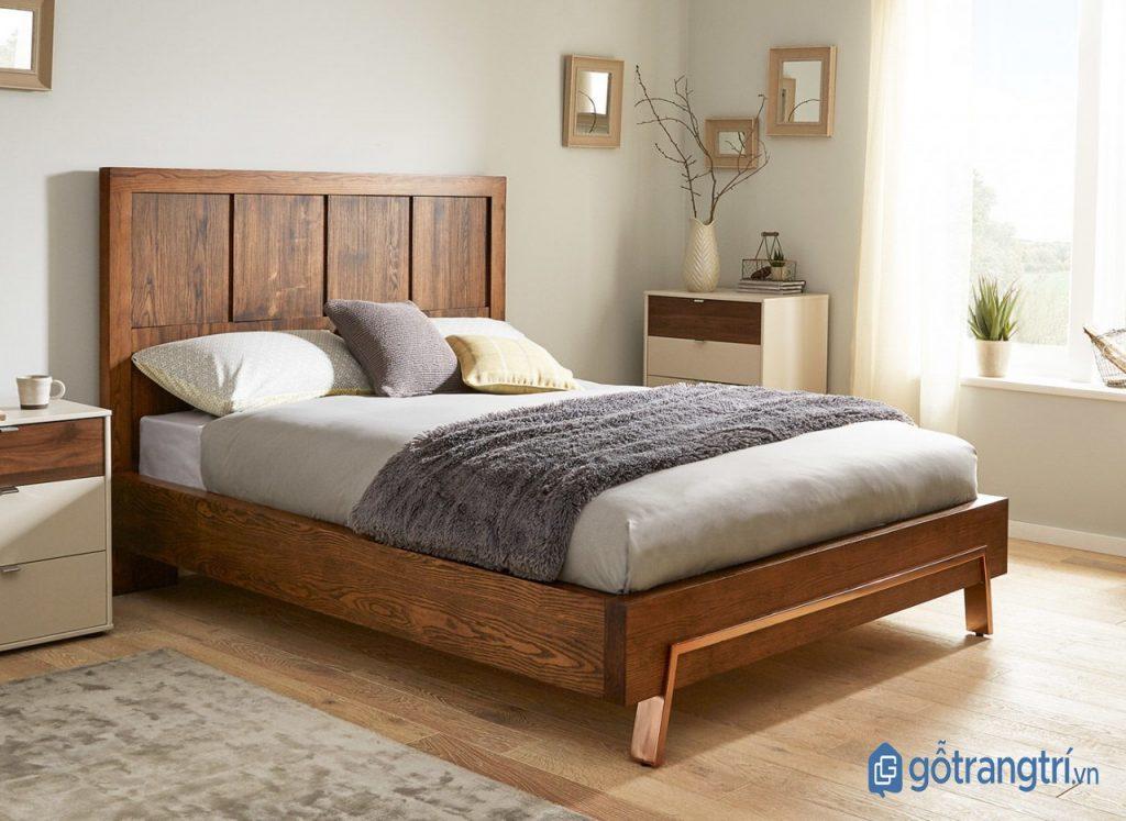 Giường ngủ đơn bằng gỗ sồi cho phong cách nội thất đơn giản, tinh tế. (ảnh: internet)