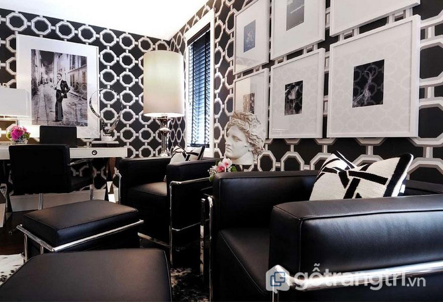 Da và inox cũng là chất liệu chủ đạo cho thiết kế Art Deco (Ảnh: Internet)