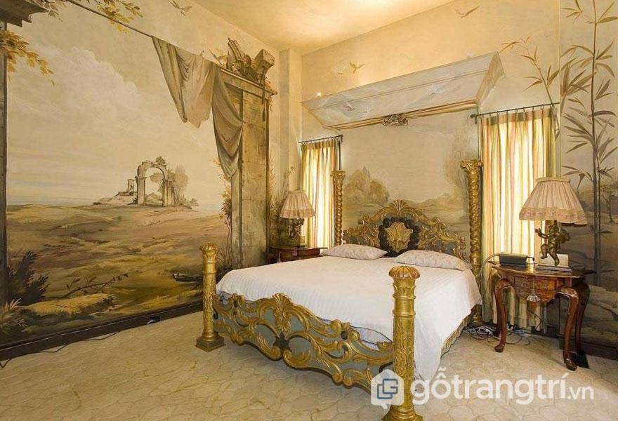 Cây lá và chim chóc là nhân tố tạo lên bức tường lộng lẫy khi thiết kế Art Deco (Ảnh: Internet)