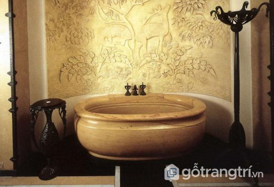 Thiết kế Art Deco cho bồn tắm khá đơn giản nhưng lại tinh tế (Ảnh: Internet)