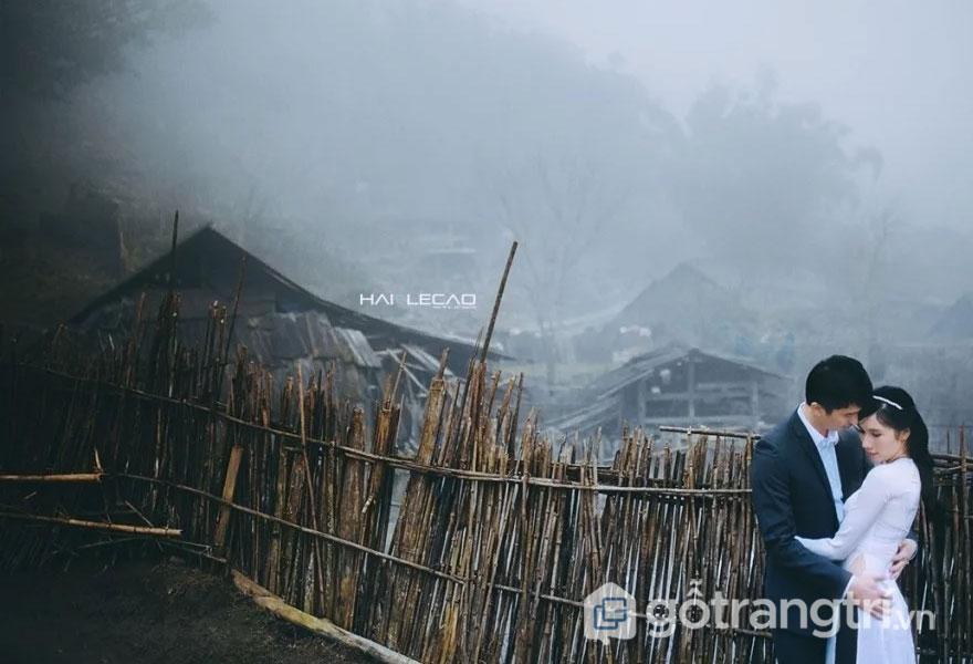 Giấc mơ tình yêu bên làn sương sớm mai mùa đông - Ảnh: HAI LECAO Studio