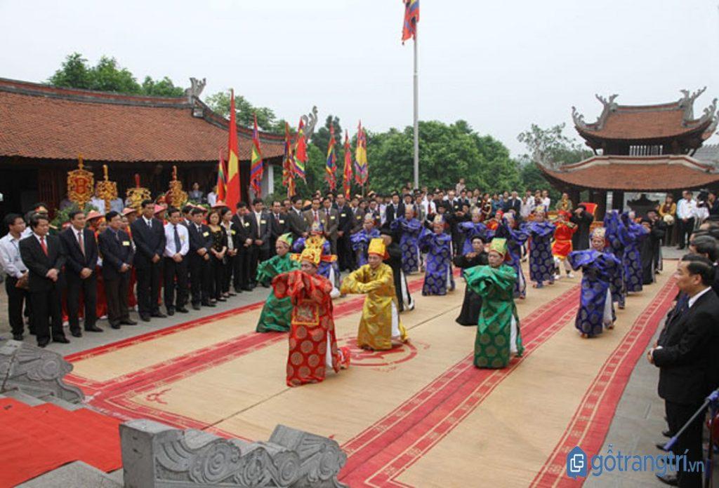 Phần tế lễ diễn ra trang trọng trong lễ hội Đền Hùng. (ảnh: internet)