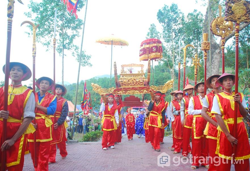 Di sản văn hóa phi vật thể: Tín ngưỡng thờ cũng Hùng Vương tại Phú Thọ (ảnh internet)