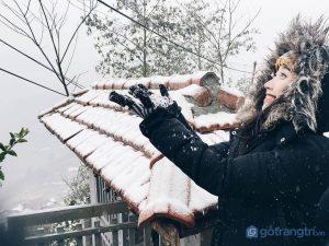 Giới trẻ nô nức lên sapa để ngắm nhìn thỏa thích những bông tuyết đầu mùa trắng xóa - Ảnh internet