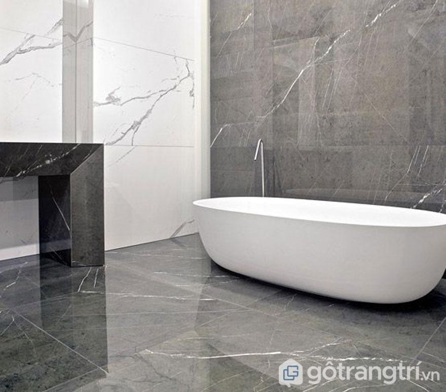 Gạch bóng kiếng không gian phòng tắm (Ảnh: Internet)