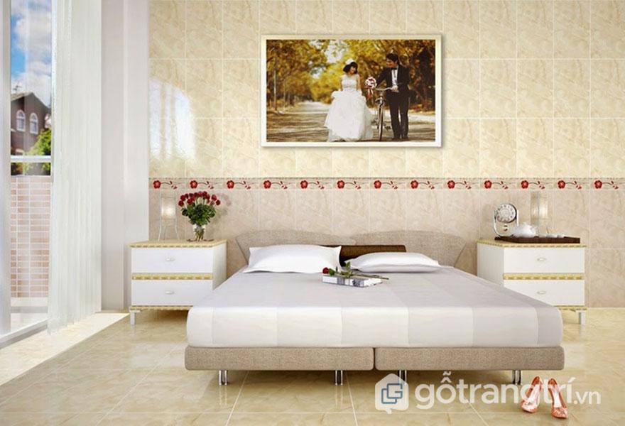 Gạch lát trang trí cho phòng ngủ - Ảnh: Internet