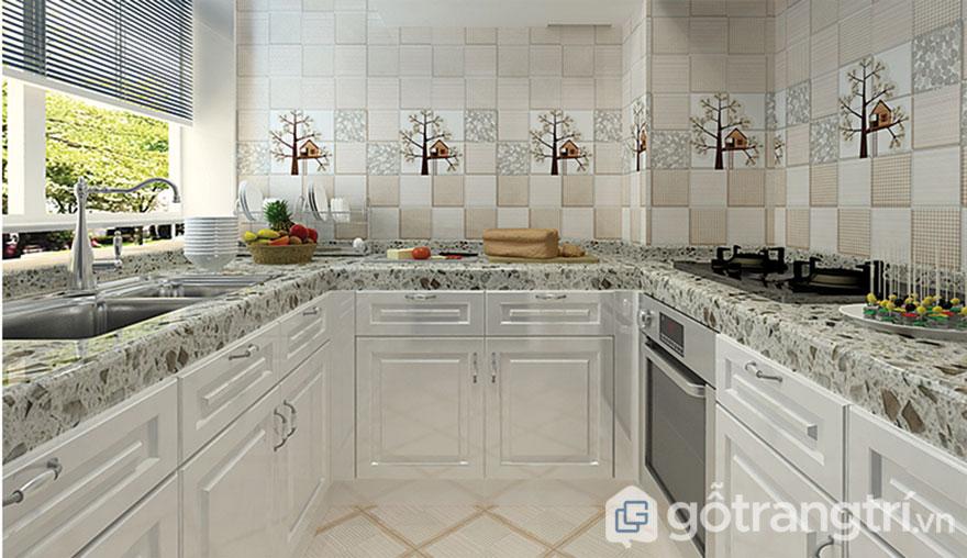 Gạch ốp lát trang trí: Phòng bếp (Ảnh: Internet)