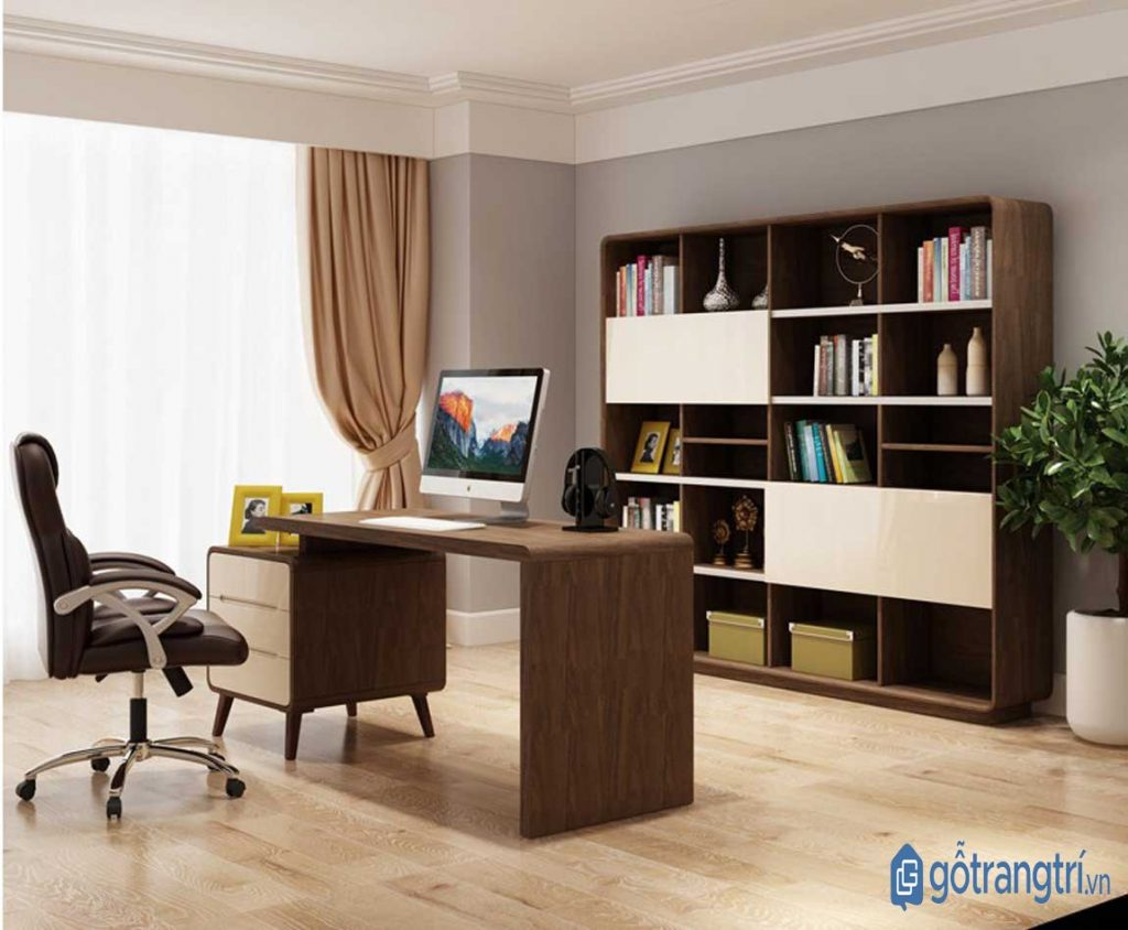 Gỗ MDF được ứng dụng phổ biến trong nội thất văn phòng. (ảnh: internet)
