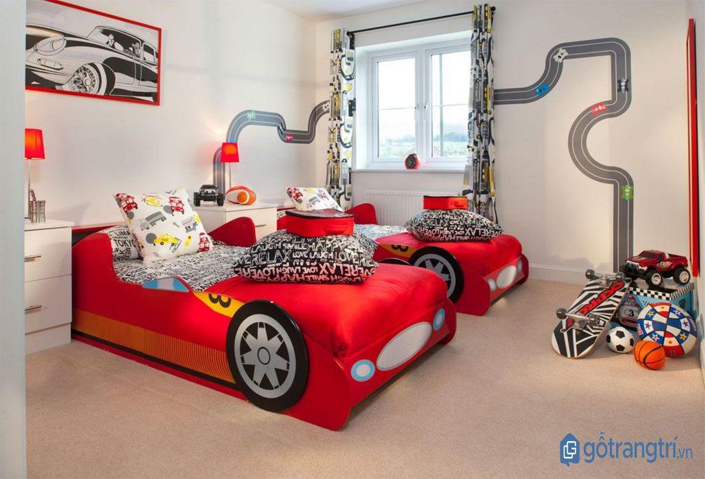Trang trí phòng ngủ bé trai theo sở thích và ý tưởng của con. (ảnh: internet)