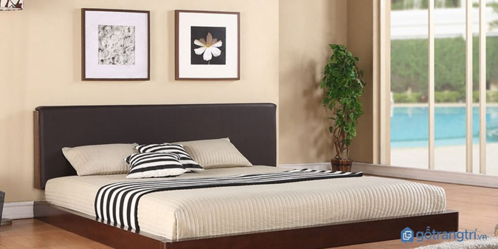 Giường ngủ đơn truyền thống với thiết kế đơn giản. (ảnh: internet)