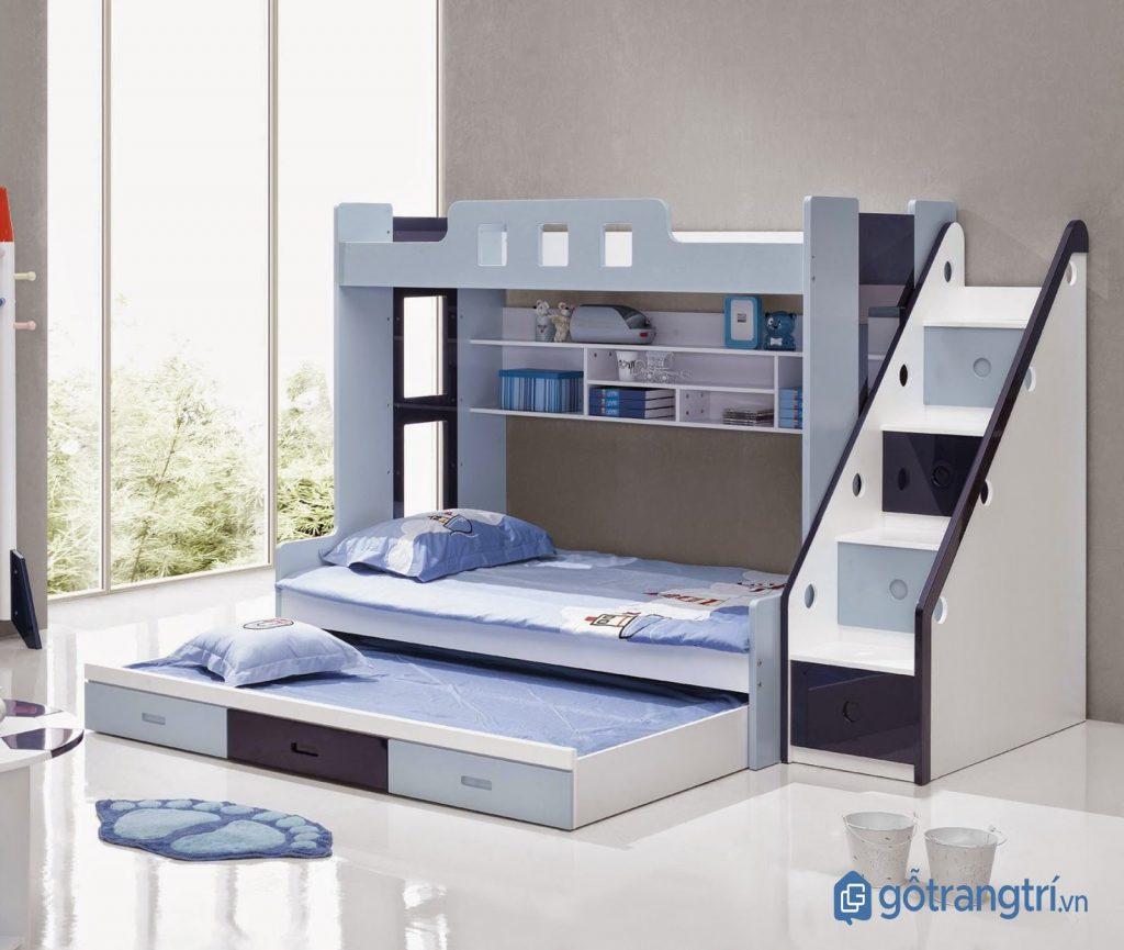 Giường tầng cho bé yêu với thiết kế thông minh. (ảnh: internet)
