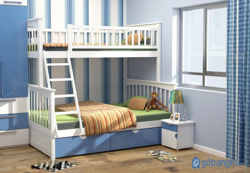 Mẫu giường tầng đẹp trang trí phòng ngủ bé trai. (ảnh: internet)