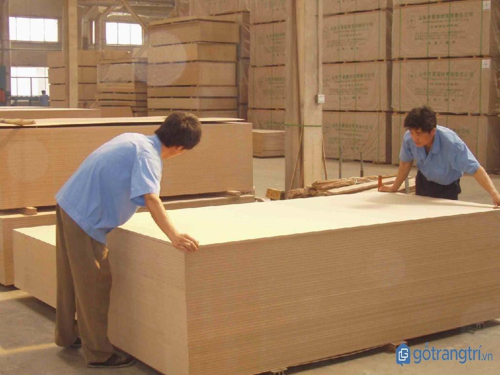 Một xưởng sản xuất gỗ MDF hiện đại. (ảnh: internet)