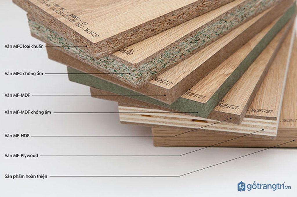 Các loại ván từ gỗ MDF. (ảnh: internet)