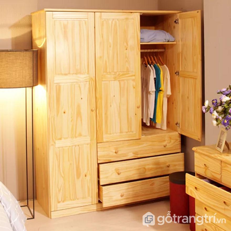 Tủ quần áo từ gỗ ghép tự nhiên (Ảnh: Internet)