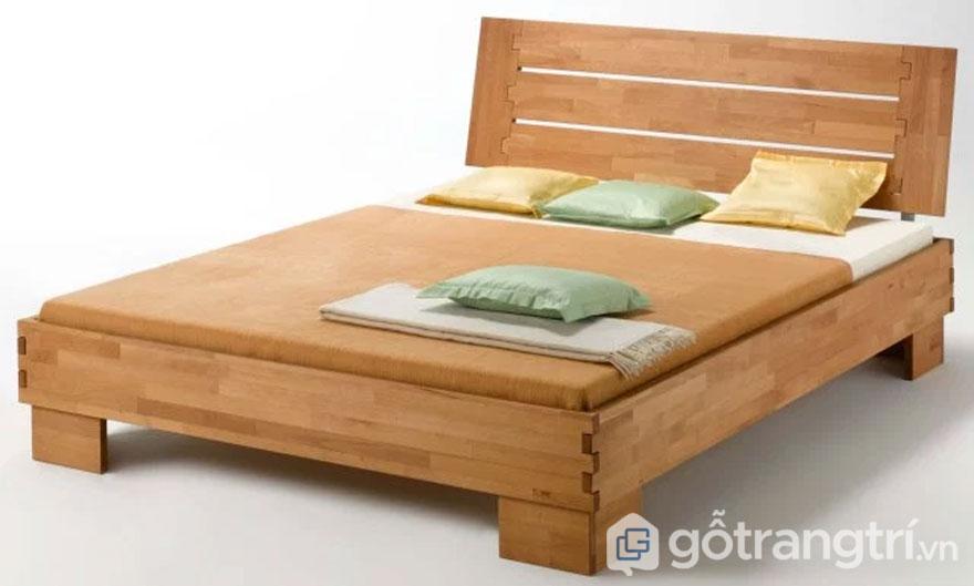 Giường ngủ được làm từ gỗ ghép thanh hiện đại (Ảnh: Internet)