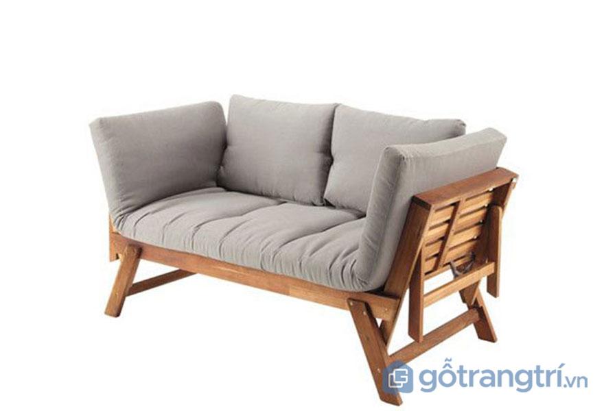 Sofa được làm từ gỗ keo bọc nệm vải mềm mại (Ảnh: Internet)