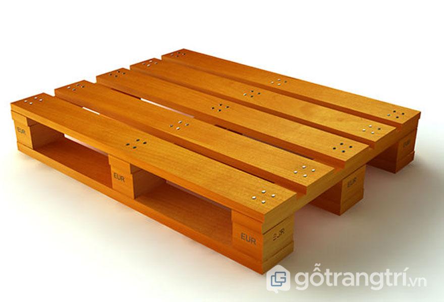 Pallet gỗ keo được thiết kế vô cùng chắc chắn (Ảnh: Internet)