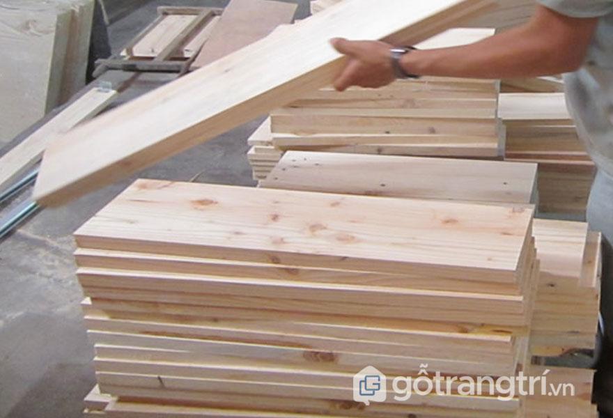 Quy trình sản xuất gỗ pallet (Ảnh: Interne