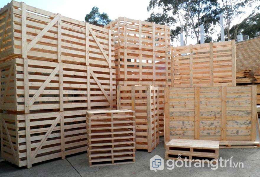 Gỗ pallet là gì? Ứng dụng của gỗ pallet trong sản xuất (Ảnh: Internet)