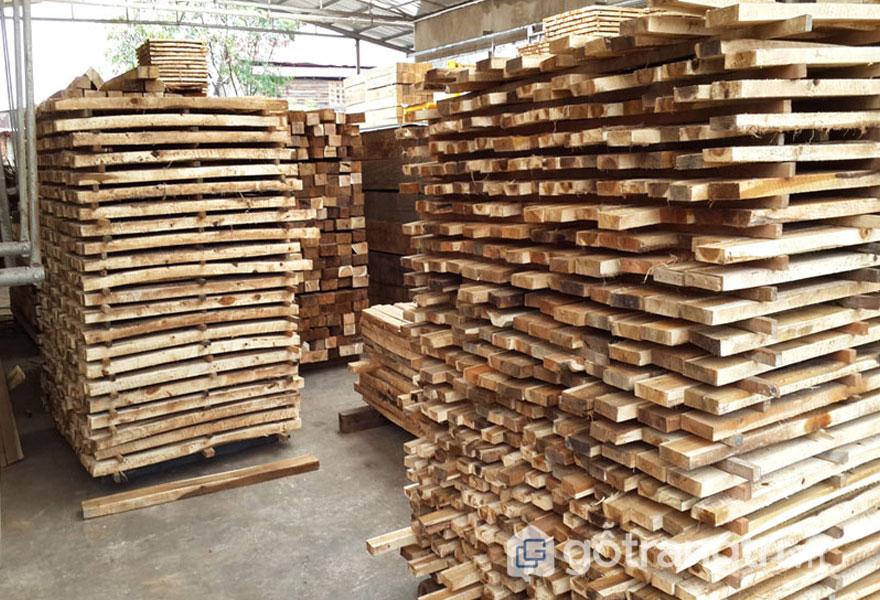 Kích thước gỗ pallet trang trí (Ảnh: Internet)