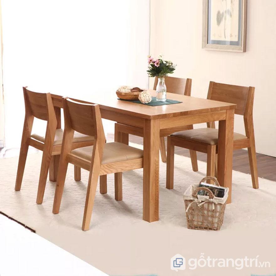 Bộ bàn ăn gỗ sồi 4 ghế hiện đại (Ảnh: Internet)