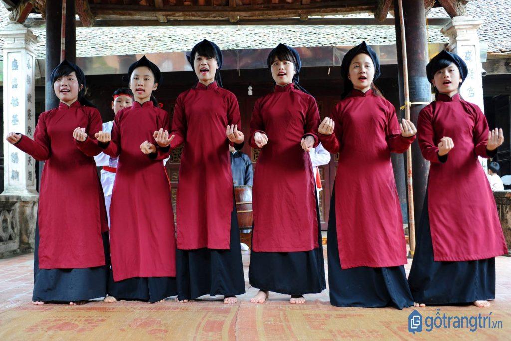Nghệ thuật hát xoan Phú Thọ là di sản phi vật thể thuộc loại hình nghệ thuật trình diễn. (ảnh: internet)