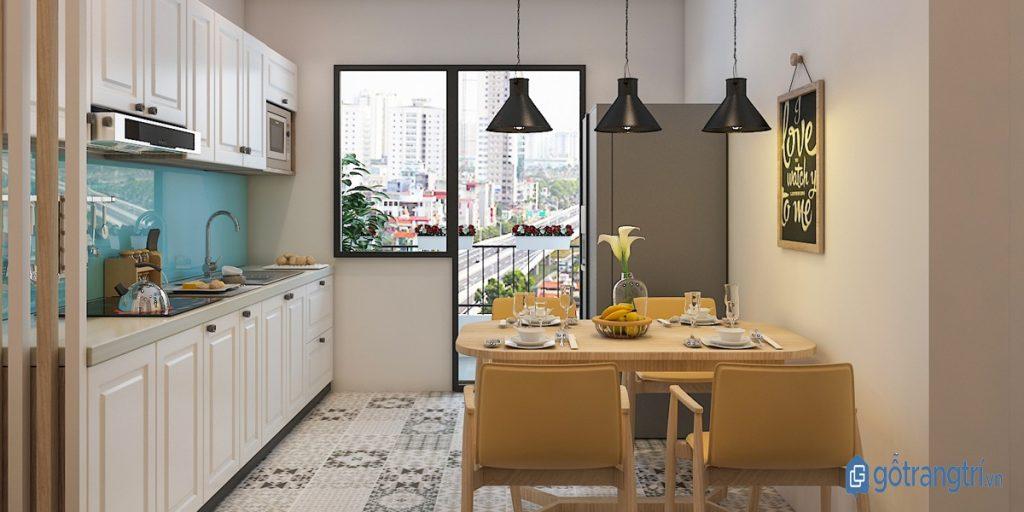 Tận dụng mọi khoảng không gian phía trên kệ bếp bằng cách lắp đặt tủ kệ bếp. (ảnh: internet)