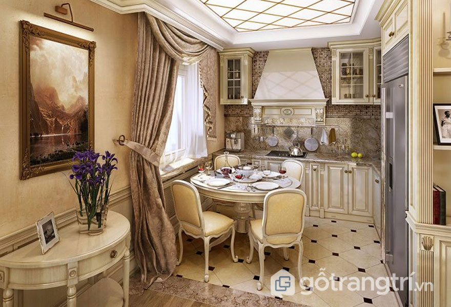 Không gian bếp đẹp mang phong cách cổ điển - Ảnh: Internet