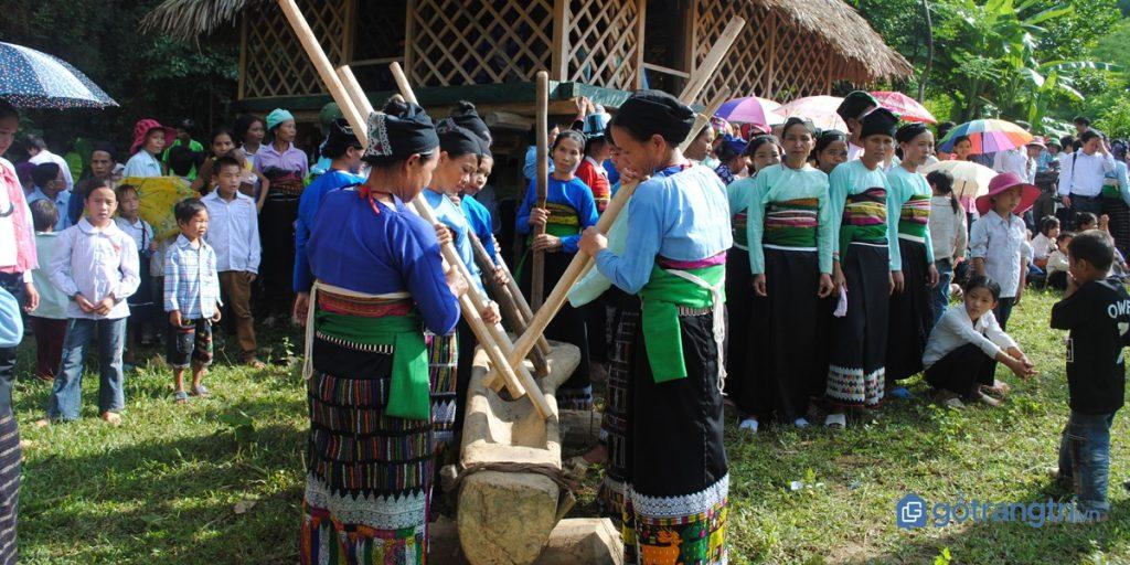 Một phần nghi lễ trong lễ hội Căm Mường Lai Châu. (ảnh: internet)