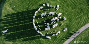Hình ảnh từ trên cao của Bãi đá cổ huyền bí Stonehenge - Ảnh Internet