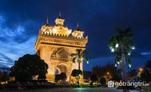 Khải Hoàn Môn là công trình kiến trúc Lào có ý nghĩa vô cùng to lớn của người dân Lào (Ảnh internet)