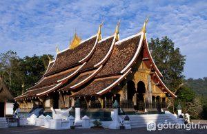 Hình ảnh tuyệt đẹp của Wat Xayaphoum - công trình tiêu biểu cho kiến trúc Lào (Ảnh Internet)