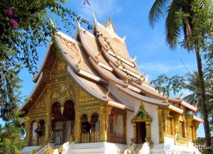 Chùa Wat Ong Theu có kiến trúc Lào độc đáo (Ảnh internet)