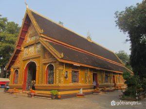 Sỉ Mương là ngôi chùa linh thiêng nhất đặt trưng cho kiến trúc Lào ở thủ đô Viêng Chăn (Ảnh internet)