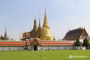 Công trình kiến trúc Lào - Chùa Phra Keo là nơi mà trước kia các vị vua chúa, Hoàng tộc đến cầu nguyện (Ảnh internet)