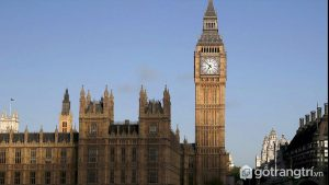 Tháp Bigben là công trình kiến trúc nổi bật nhất của nước Anh - Ảnh Internet