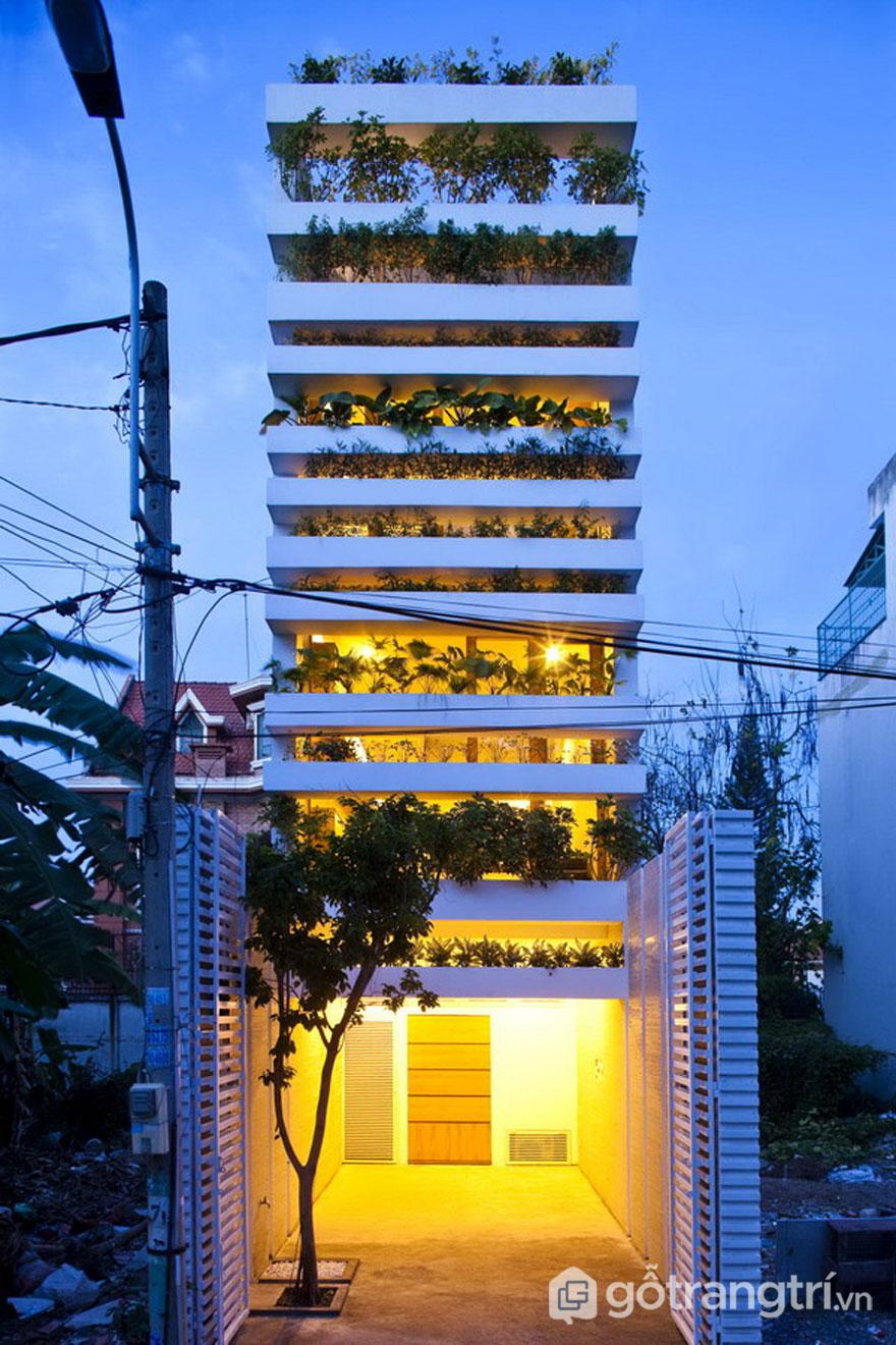 Kiến trúc nổi bật nhà xanh ấn tượng tại TP. HCM - Ảnh: Internet