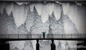Quang cảnh băng giá như ở một quốc gia Bắc Âu này thực ra lại ở Cumbria, Anh - Ảnh Internet